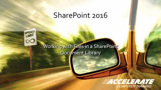 SharePoint Online Document Libraries: Co-Authoring, Check-in/Check-out and Versions