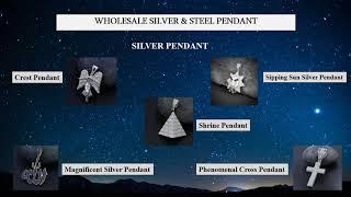Wholesale hip hop silver pendant
