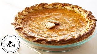 Anna Bakes a Pumpkin Pie! | Oh Yum With Anna Olson