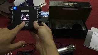 Hướng Dẫn Lắp Đặt Combo Hát Live Stream ĐT BM-900, XOX-K10, XOX-MA2