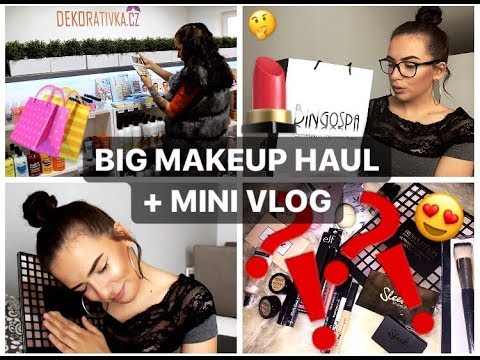 BIG MAKEUP HAUL + MINI VLOG