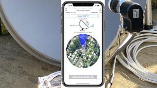 Satellitenschüssel auf Astra 19,2 mit der App Satellite Finder (Pro) und DUR line SF4000 ausrichten