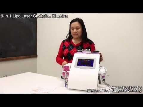 9-in-1 Lipo Laser 40K Ultrasonic Cavitation Machine ( English / Español )