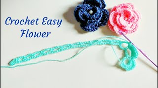 How To Crochet Flowers - Beautiful, Easy And Beginner Friendly Technique