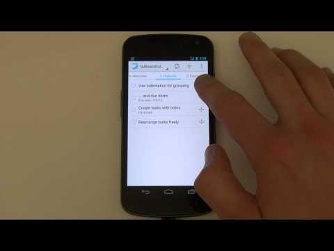 Video of Tasks