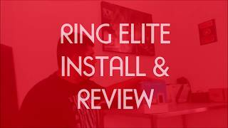 Ring Elite Doorbell Install on brick and Review