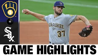 Adrian Houser Twirls Seven Scoreless In Win   Brewers-White Sox Game Highlights 8/5/20