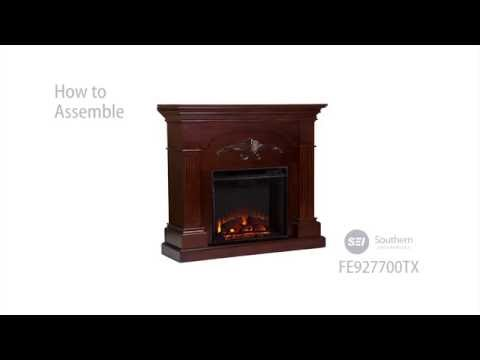 FE9277: Sicilian Harvest Electric Fireplace - Mahogany Assembly Video