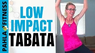 LOW IMPACT (Quiet) Bodyweight Tabata | 25 Minute Cardio, Strength + Balance Home Workout by Pahla Bowers
