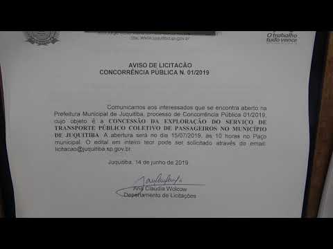 Aviso de Licitação Transporte Público Coletivo de Juquitiba
