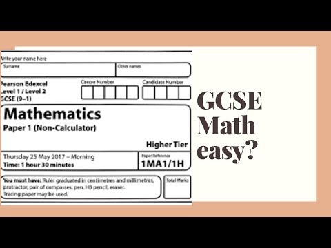 trying gcse maths higher tier paper! is gcse easy? (theclleung#1)