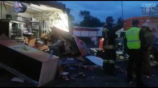 Видео с места аварии на ул.Никитина