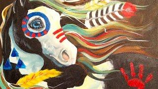 ASL Fantasy Native American War Pony Beginner Tutorial In Acrylic | TheArtSherpa
