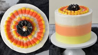 CANDY CORN BUTTERCREAM CAKE, HANIELA'S