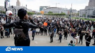 George Floyd protests continue in the San Francisco Bay Area. Latest here https://abc7ne.ws/2zGhTQu   #BlackLivesMatter #SanFrancisco #GeorgeFloyd #protests