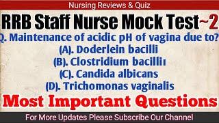 RRB Staff Nurse Mock Test~4 || Nursing Trends - Thủ thuật