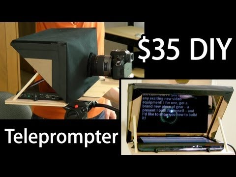 Make A Cheap Teleprompter For Your LCD Monitor Or Tablet