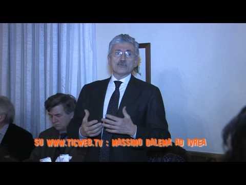 Preview video Ivrea, Massimo Dalema ospite del PD sede locale