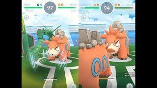 【Pokemon GO】神獸烈空座與第三代寶可夢呆火駝道館對戰! [精靈寶可夢GO]