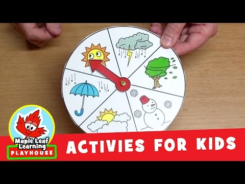 Weather Wheel Activity for Kids | Maple Leaf Learning Playhouse