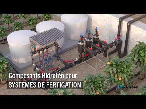 Composants Hidroten pour systemes de fertigation