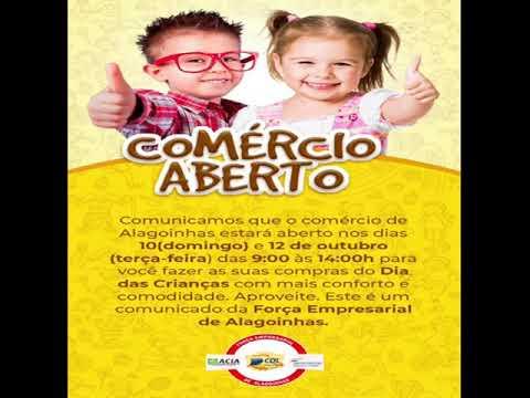 COMERCIO ABERTO EM  10 e 12 - 10 - 2021