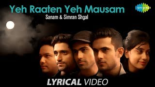 Yeh Raaten Yeh Mausam with lyrics - YouTube