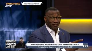 """Shannon Sharpe Strong react to AB apologizes for Twitter rant: """"I love football and I miss it"""""""