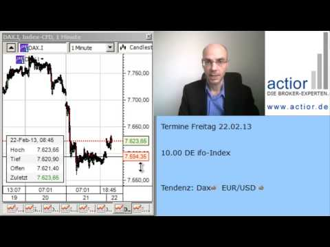 Tagesausblick EURUSD + Dax 22.02.2013