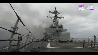 Navy Destroyer Test-Fires All Its Guns