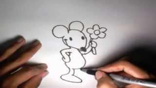 como dibujar un raton paso a paso 11 how to draw a mouse 11