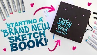 HEART FRECKLES!? | Starting a New Sketchbook! | Copic Marker & Illo Sketchbook