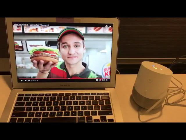 """Burger King made a TV ad where a pitchman says """"Ok, Google, what is the Whopper burger?"""" If you owned a Google Home smart speaker, your device would be prompted by the voice on TV to start reading the Wikipedia entry for the Whopper. Pretty clever! The ad even went on to win a major advertising industry award. But it is a little scary that marketers can use your smart devices to deliver ads to you this way."""