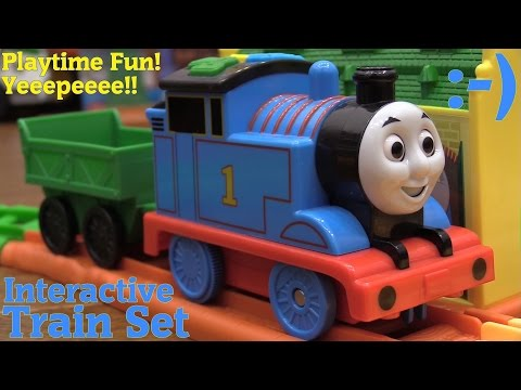 The Kids Love Thomas & Friends! Thomas the Tank Engine Interactive Train Set and Take N Play