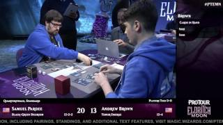 Pro Tour Eldritch Moon Quarterfinals: Pardee vs. Brown and Yukuhiro vs. Blohon