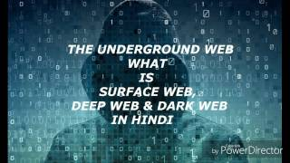 The Underground Web... What is surface web,deep web & dark web? In Hindi