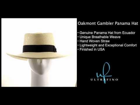 Oakmont Gambler Panama Hat