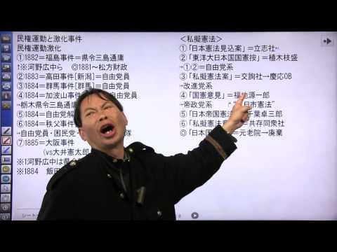 竹内の日本史 戦略図解ボード #053 民権運動と激化事件