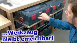 L-Boxx Werkbank selber bauen: L-Boxx und i-Boxx platzsparend unterbringen