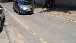 Hyundai i20 Anti-lock Braking System (ABS) at work
