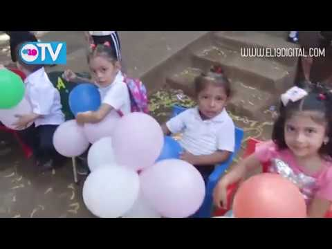 Niñez del Colegio Publico España Celebran con Alegría el Inicio del Año Escolar 2019, D-IV Managua
