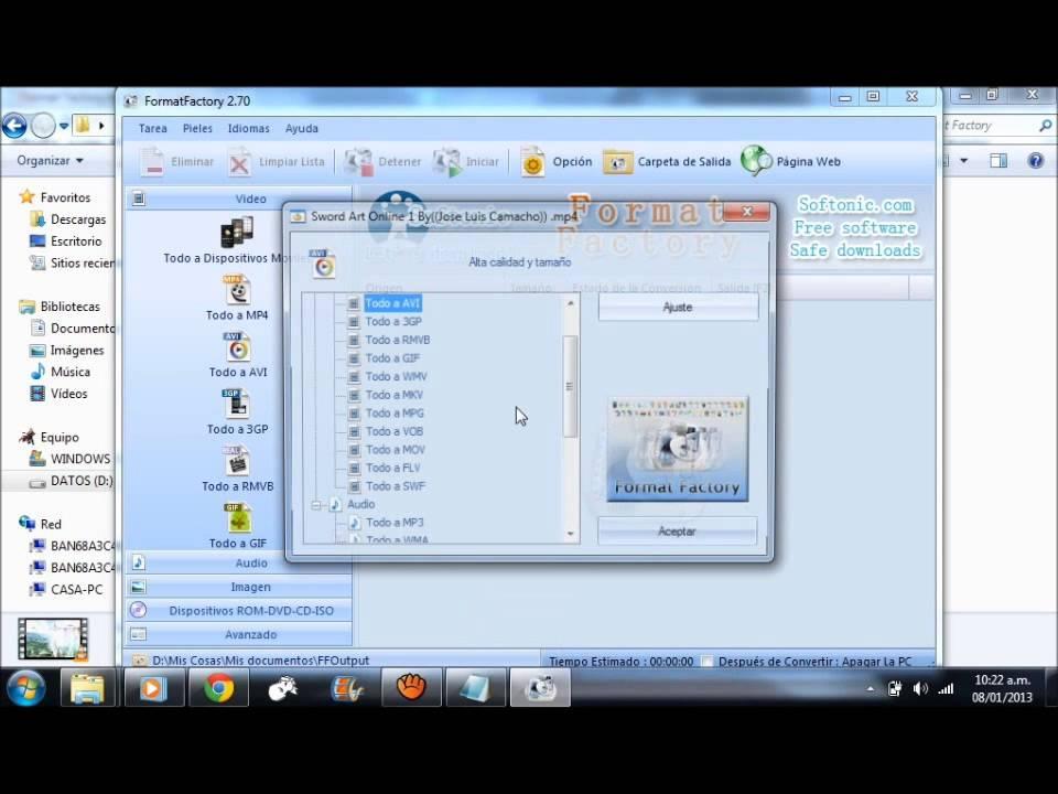 Descargar Format Factory, portable, actualizable, un link full, por mediafire/Mega 100% Full Crackeado