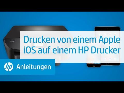 Drucken von einem Apple iOS auf einem HP Drucker