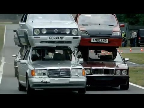 Top Gear vs The Germans Part 1 – Double Decker Racing – Series 11 – BBC