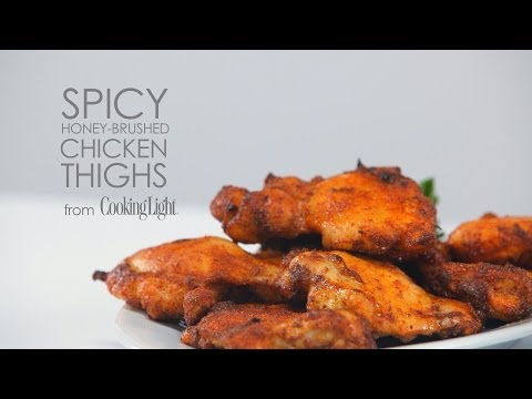 How to Cook Spicy Honey-Brushed Chicken Thighs