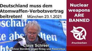 #nuclearban: Rede Claus Schreer vom Münchener Bündnis gegen Krieg und Rassismus