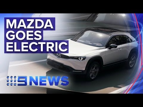 Mazda launches its first electric car | Nine News Australia
