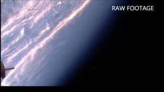 UFO at Space Station: Comes out of nowhere, then camera moves.