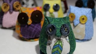 How to make an Owl Pincushion