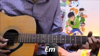 Tera Hoke Rahoon - Arijit Singh - Guitar cover Lesson Chords Easy - Behen Hogi Teri